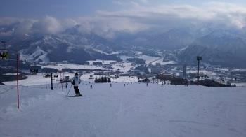 スキーに行ったんよ